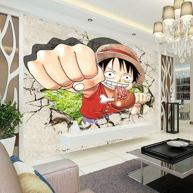 One Piece Ruffy Tapete Japanischen Anime Fototapete Benutzerdefinierte 3D  Wandbilder Kinder Jungen Kind Schlafzimmer Design Room