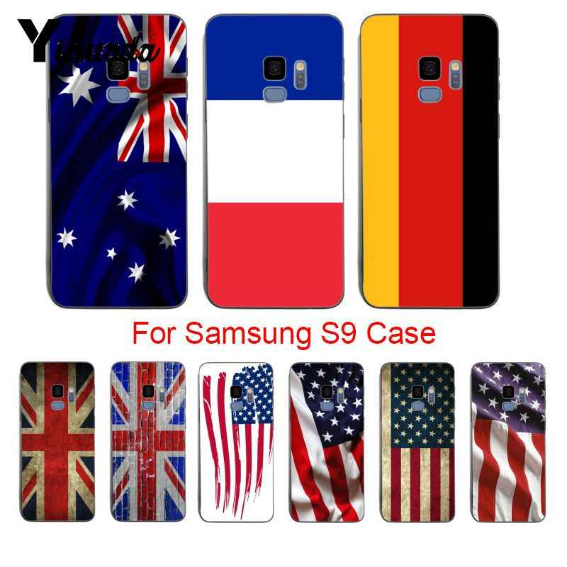 low priced 36f38 bd797 Yinuoda USA Australia France Germany UK Flag Newest Super Cute Phone Cases  For samsung galaxy s6 edge s5 s7 s8plus s9plus coque