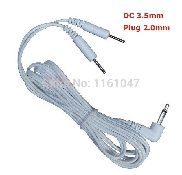 DHL darmowa wysyłka 200 sztuk/partia 2 w 1 DC głowy 3.5mm drutu elektrody/kabel wtyczki o grubości 2mm dla dziesiątki ems cyfrowa maszyna do terapii w Masaż i relaks od Uroda i zdrowie na AliExpress - 11.11_Double 11Singles' Day 1