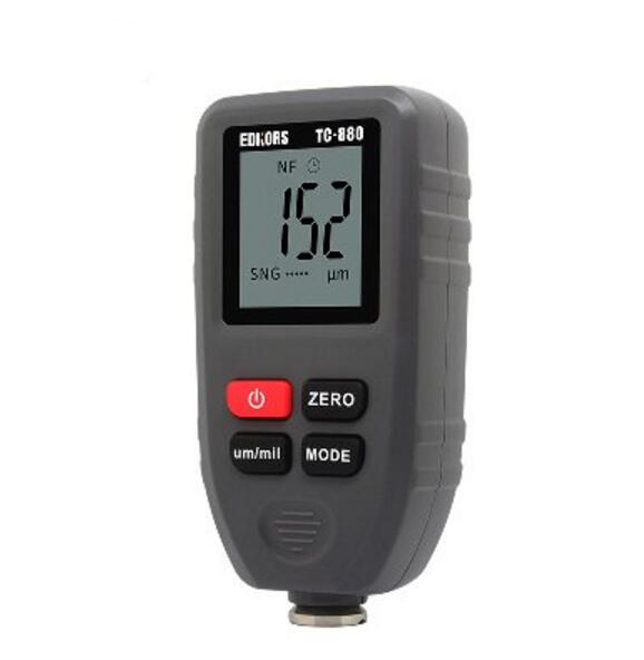 Portable 0~1300um(0~51.2mil) Ferrous and Non-Ferrous 2 in 1 Paint Coating Thickness Meter Gauge gm200 coating thickness gauge standard model with built in probe for ferrous metal substrates yellow