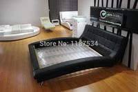 C389 большой мягкая кровать king size PU + ПВХ кожа мягкая кровать мебель для спальни под заказ каркас кровати мебель для дома несколько цветов