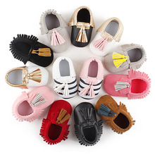 Factory Cheaper Price Baby Shoes Strip Tassel Infant Toddler