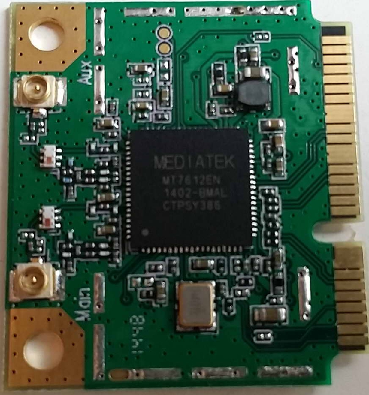 MT7612E, MTK, Half, MINIPCIE, 11AC, 900Mbps Dual Antenna WIFI Module