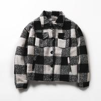 2018 winter new Korean version of thickened fabric cotton checked jacket men thick black and white grid Sweatshirt Free shipping