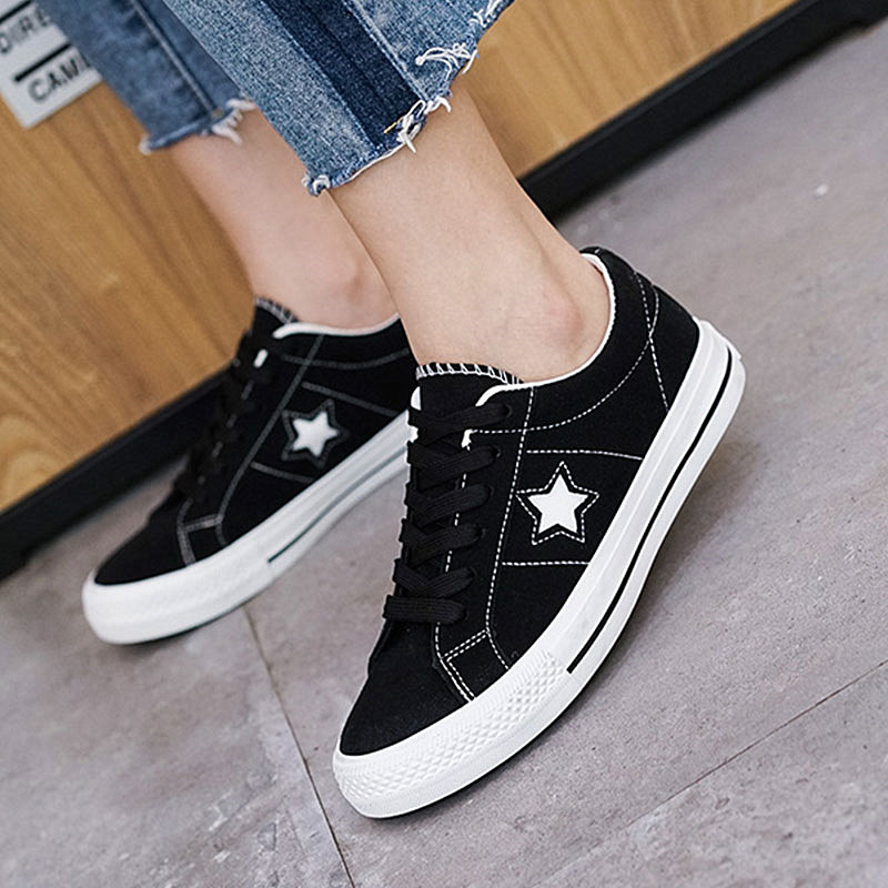 Women Sneakers Summer Lace Up Canvas Shoes Lace Up Skateboard Star Casual Shoes Basket Femme Plus Size 35-43 glowing sneakers usb charging shoes lights up colorful led kids luminous sneakers glowing sneakers black led shoes for boys
