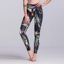 AINDAV Sport Leggings High Waist Compression Pants Gym Clothes Sexy Running Floral Print Yoga Tights Women Fitness Yoga Pants
