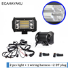 ECAHAYAKU 72W 5 Inch Dual Row LED Light Bar Offroad Work Light For Led Atv Truck