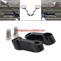 10mm Universal CNC Aluminum Motorcycle Bike Mirror Mount Riser Extender Adapter M10