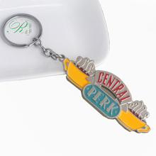 RJ TV Series Friends Logo Keychains Pendants Central Perk Coffee Time Chaveiro Metal Car Keyring Good Xmas Gift Jewelry