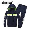 Jolintsai Плюс Размер 4XL Капюшоном Спортивной Одежды Мужчин 2017 Мужские Толстовки И Кофты Спортивный Костюм Мужчины Хип-Хоп Наборы Moleton Masculino
