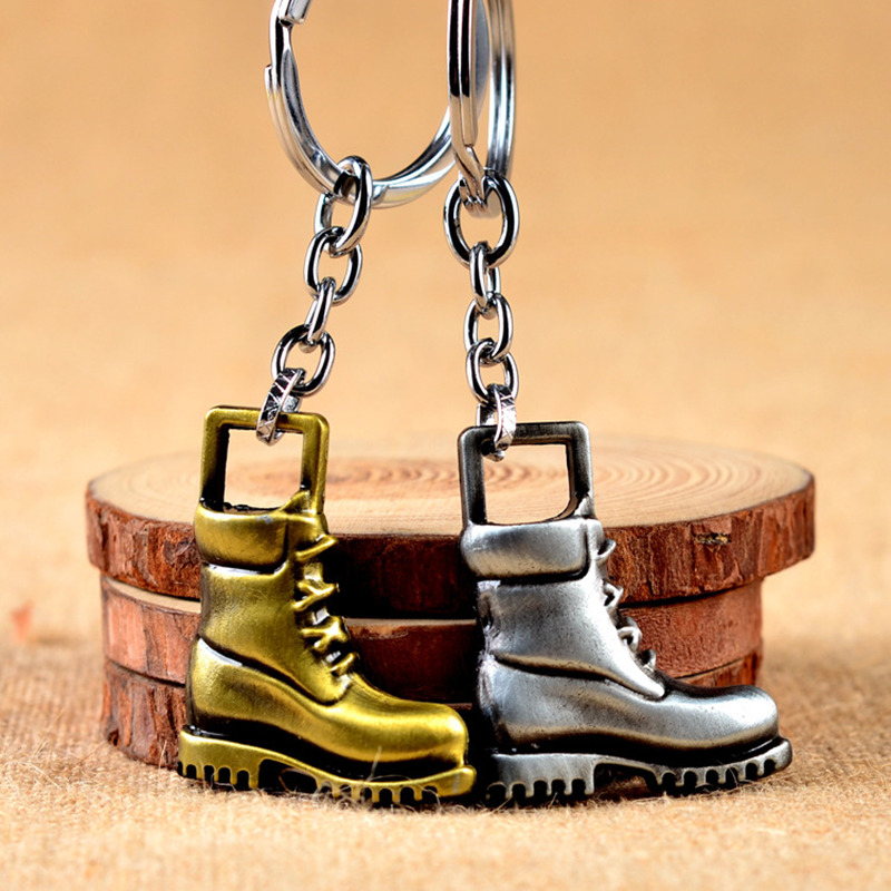 Vintage Diy Material Keychain Boot Keyring West Cowboy Chaveiro Riding Boots Accessory Shoe Chain Classic Gift Car Llavero Skate