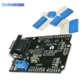1Set Black MCP2515 EF02037 CAN BUS Shield SPI 9 Pins Standard Sub-D Expansion Board Module DC 5-12V for Arduino Seeeduino