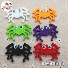 4.8CM Non-woven patches Halloween spider Felt Appliques for clothes Sewing Supplies diy craft ornament trendy non stick diy ornament