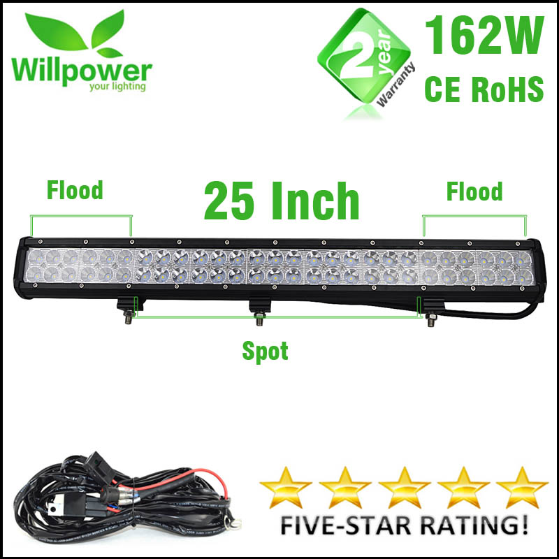 Willpower 25 INCH 162W Combo Beam LED Light Bar Offroad Led Bar Led Work Light Bar