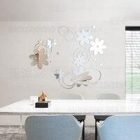 Kreatywny DIY wiosna natura kwiat dekoracyjne drzwi lustro naklejki ścienne pokój dzienny sypialnia home decor pokoju dekoracje ścienne R050