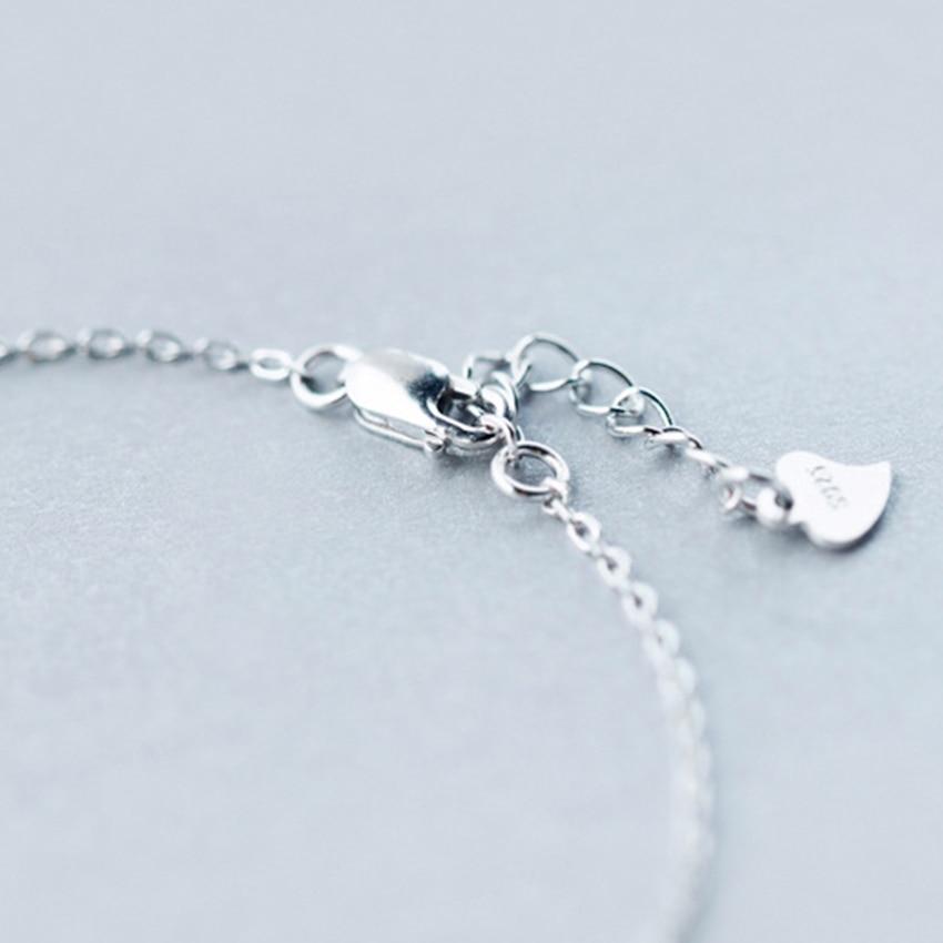 Kinitial 1Pcs 925 Sterling Silver Music Symbol Narukvice za žene CZ - Modni nakit - Foto 5