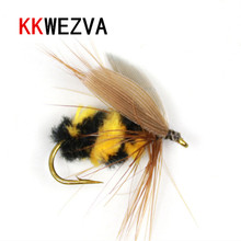 Купить с кэшбэком KKWEZVA 20 pcs Fishing Lure Butter fly Insects different Style Salmon Flies Trout Single Dry Fishing Fly Lures Fishing Tackle