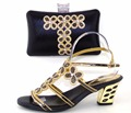Nigeria Wedding Sandal Shoes And Bag To Match High Quality Fashion African Italian Shoes And Matching Bag Set TH16-48