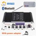 HY803 мини усилитель автомобильный Bluetooth усилитель 40 Вт + 40 Вт FM микрофон MP3 USB поддержка AC 110 В ~ 220 В или DC 12 В два способа ввода