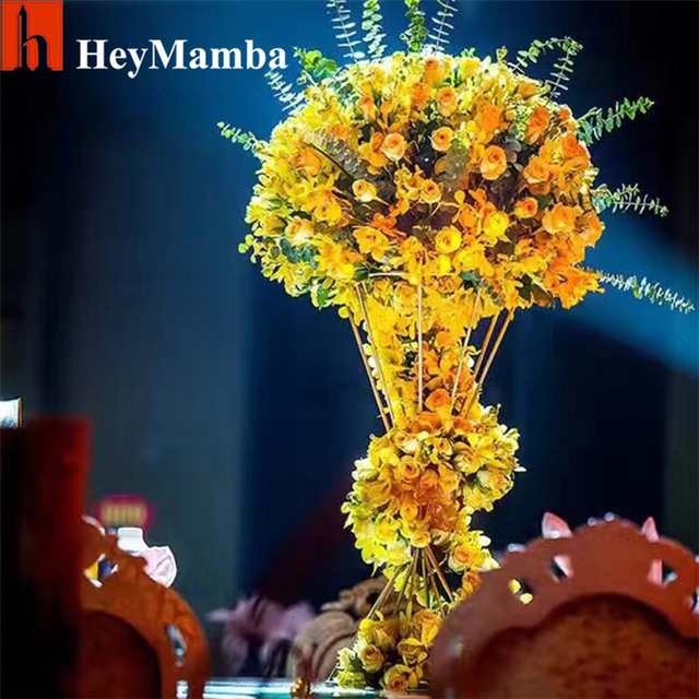 Heymamba 30pcs wedding table centerpiece flower stand for wedding heymamba 30pcs wedding table centerpiece flower stand for wedding centerpiece decoration diy road leads props junglespirit Images