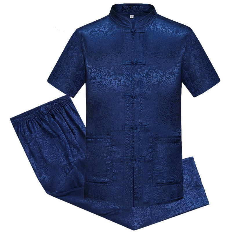 Traditional Chinese Kung Fu Suit Male Clothing Cheongsam Tang Suit Oriental Wear Vintage Man Mens Chinese Tops For Tai JI