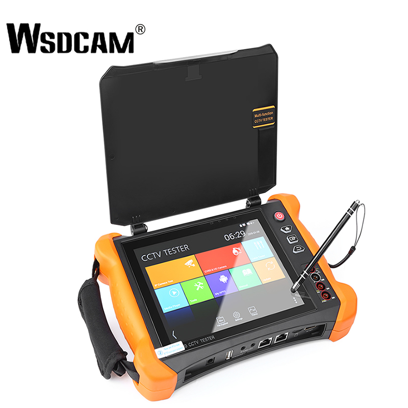 8 pulgadas IP cámara de seguridad CCTV Tester Monitor SDI/TVI/AHD/CVI/multímetro/ TDR/OPM/VFL/POE/4 K/HDMI/en y fuera X9-MOVTADHS