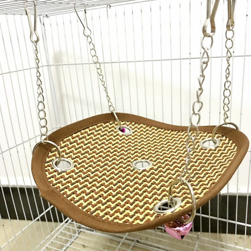 Pet Products Learned Pet Cage Bed Mat Pad Hanging Ferret Hammock Bed Soft Cool Comfortable Mat Pad Hammock Use Kitten Parrot Small Animals Supplies Bird Cages & Nests