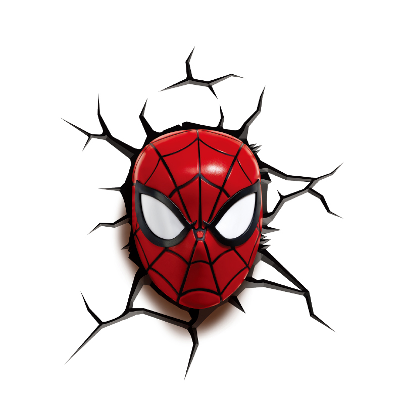 NEW Decorlight Spider-Man Nightlight Kid Gift Wall Lamp Touch Battery Lighting for Home Holiday Wall Party Decorative IY303164 creative led 3d nightlight hockey for kid boy gift wall decoration holiday party hockey lighting iy303166 5