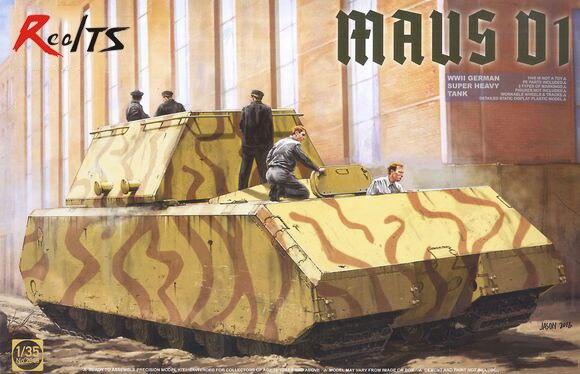RealTS Takom 1/35 WWII German Super Heavy Tank Maus V1 #2049