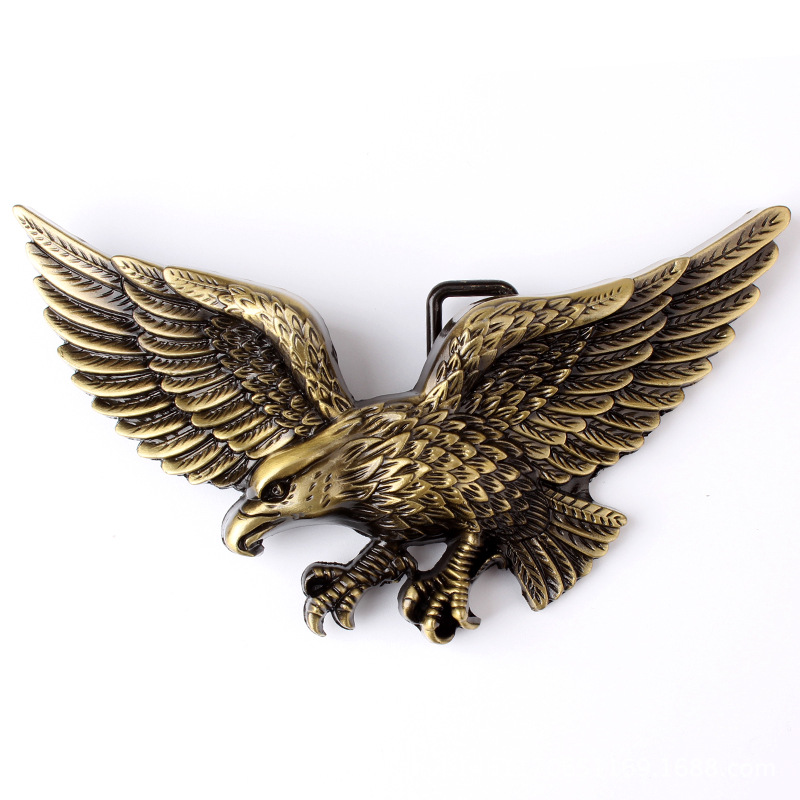 The Three-dimensional Eagle Metal Belt Buckle Suitable For 3.8 CM Width Of Belt