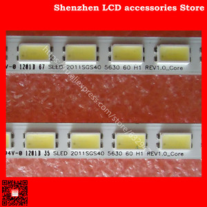 Image 2 - 6 ชิ้น/ล็อต 455 มม.LED Backlight 60 LEDs สำหรับ LJ64 03567A เลื่อน 2011SGS40 5630 60 H1 REV1.0 L40F3200B LJ64 03029A LTA400HM13