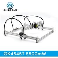 GKTOOLS 5500mW 45 45cm DIY Mini CNC Wood Laser Engraver Cutter Engraving Machine Transparent Acrylic PWM
