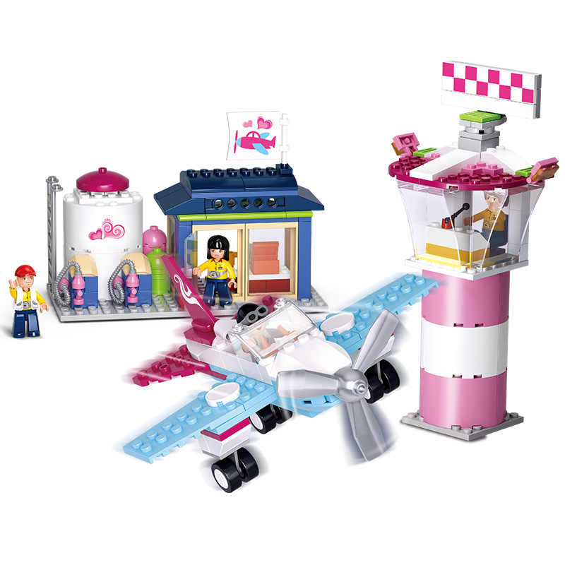 Конструктор Sluban совместим с Lego B0608 284 P Модели Конструкторы для строительства игрушки хобби для детей