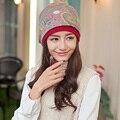 Mulheres grávidas outono inverno baotou cap chapéu cachecol dois tipos maneira de usar a impressão quente de moda de alta qualidade quente têxtil cabeça chapéu