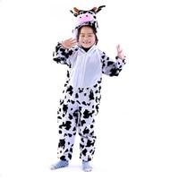 Lovely Kids Unisex Children Kigurumi Pajamas Anime Cosplay Costume Onesie Cow
