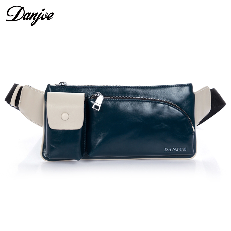 Genuine Leather Waist bag For Men Casual Money Belt Bag With Zipper bag Leisure Travel Fanny