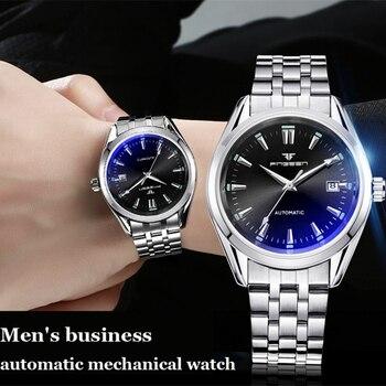 2020 New Selling FNGEEN Brand Luxury Automatic Men's Watch Skeleton Steel Mechanical Wrist for Man Hour Erkek Kol Saati - discount item  45% OFF Men's Watches