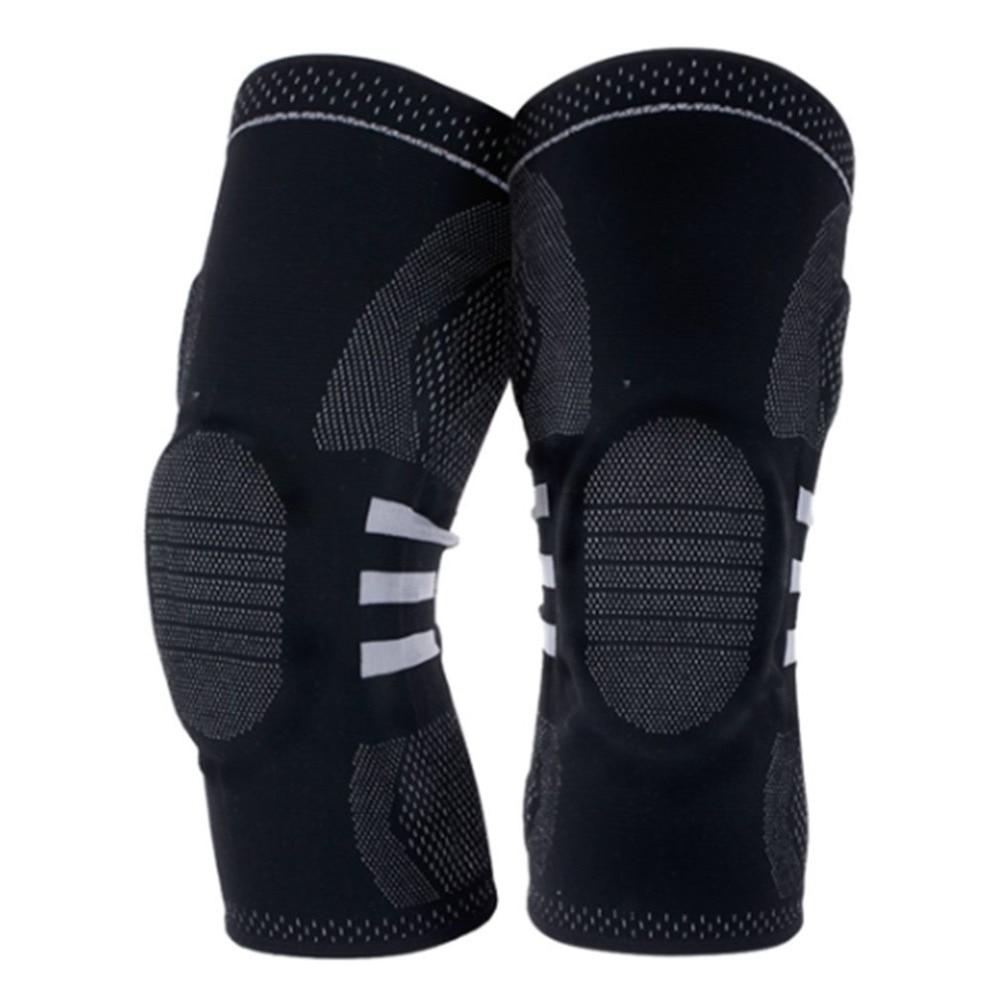 1 Paar M Größe Elastische Sport Knie Pads Unterstützung Klammer Wrap Beschützer Knie Pad Arthritis Verletzungen Gym Ärmel Bein Knie Liefert
