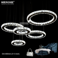 LED Crystal Ceiling Light Fixture Modern LED Clear Crystal Mounted Lamp Stainless Steel Lustre For Home