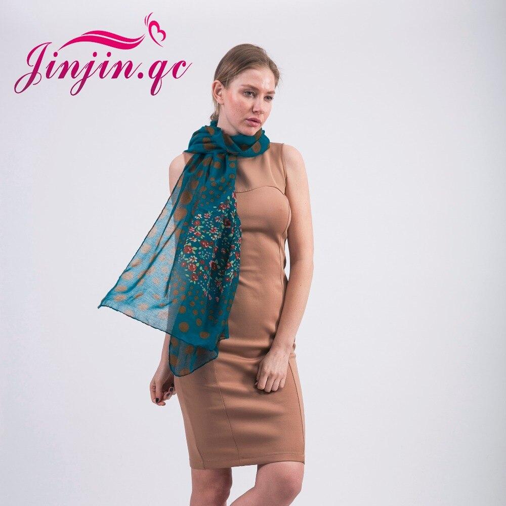 QC  moda viscosa bufanda primavera mujeres corazón impresión floral bufandas  y mantones Echarpe foulard Femme Jersey hijab 48827ad4134