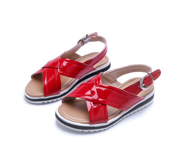 2018 New Children Summer Shoes Fashion Patent Leather Sandals Boys Girls PU Shoe Beach Shoes for Kids Sandals #7