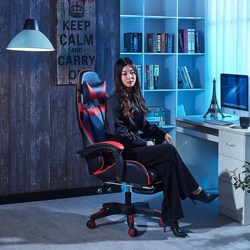 Saisen Gaming Chair E Sports Chair Computer Chair Home Office Chair White And Red Easymartz