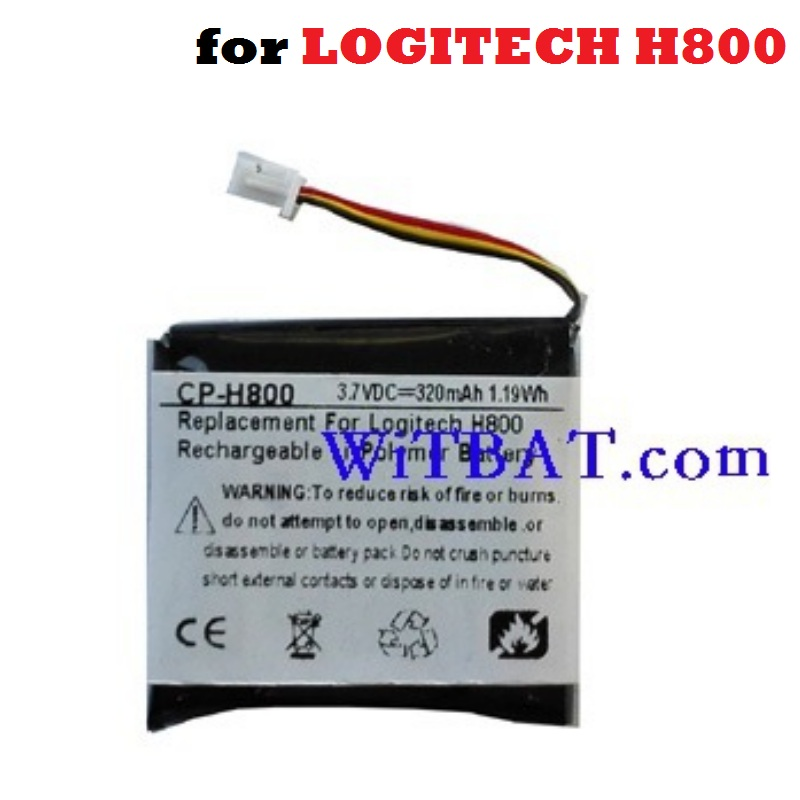 AHB472625PST Battery Replacement For LOGITECH H800 LOGITECHH800 Earphone Headphone 3.7V 320mAh Li-Polymer Polymer Rechargeable