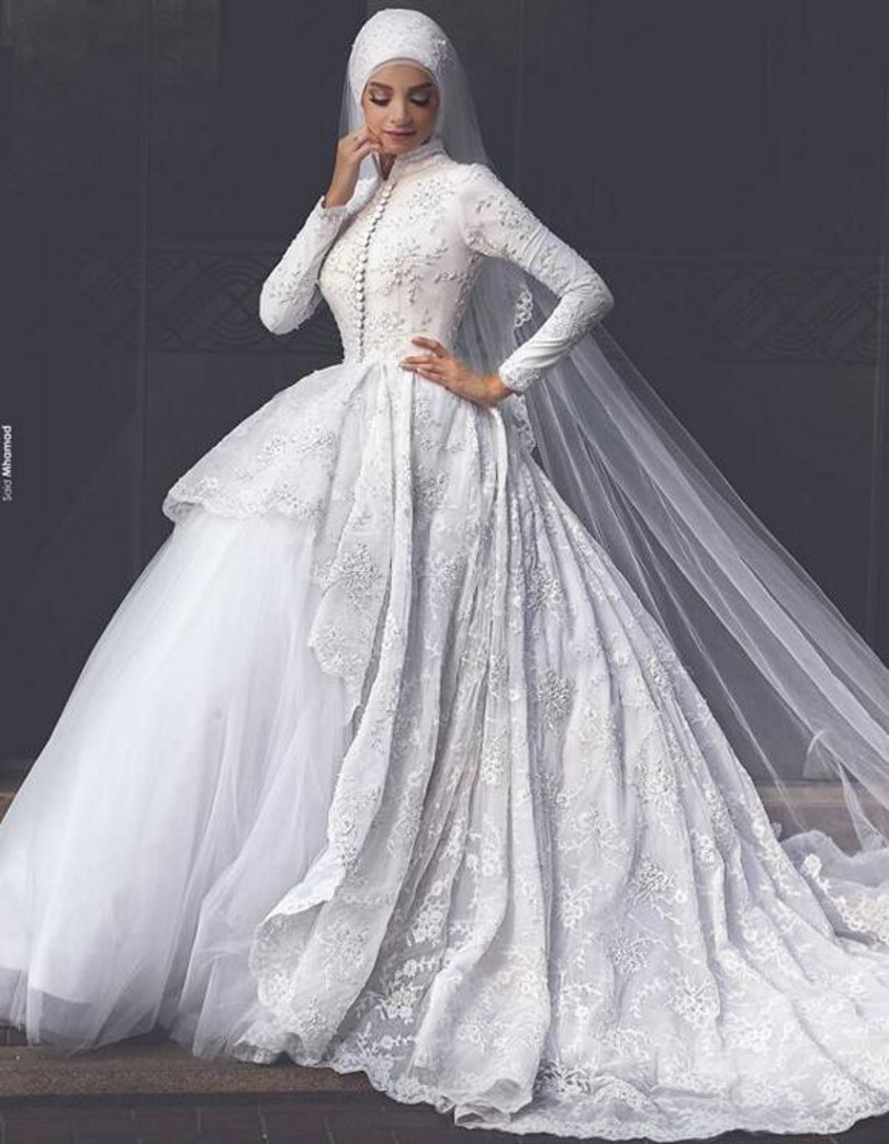 Online buy wholesale couture wedding dresses from china for Arabic wedding dresses with hijab