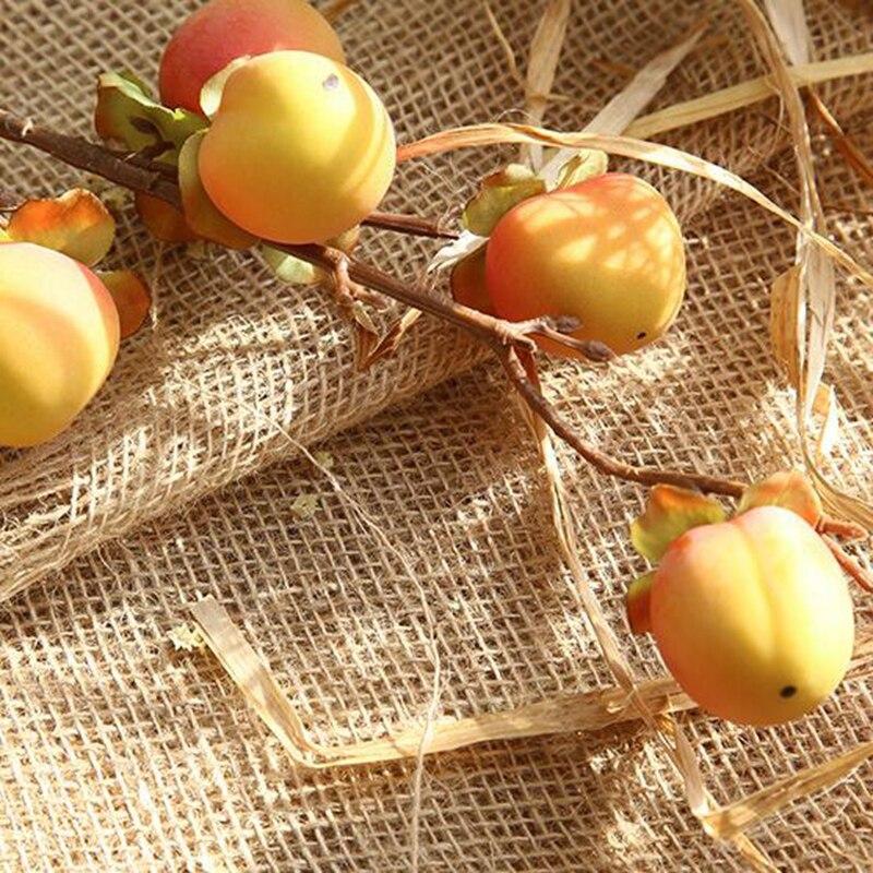 10 pièces artificiel Rose pêche fruits baies Bouquet Floral baies jardin et décoration de la maison pêche branche fruits tige