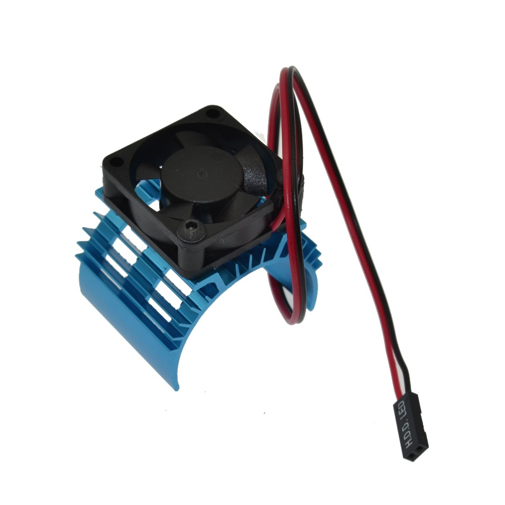 Tram <font><b>540</b></font> <font><b>Motor</b></font> With <font><b>Fans</b></font> Radiator Heat Sink For 1/10 RC Car <font><b>540</b></font>/550 3650 Size <font><b>Motor</b></font> image