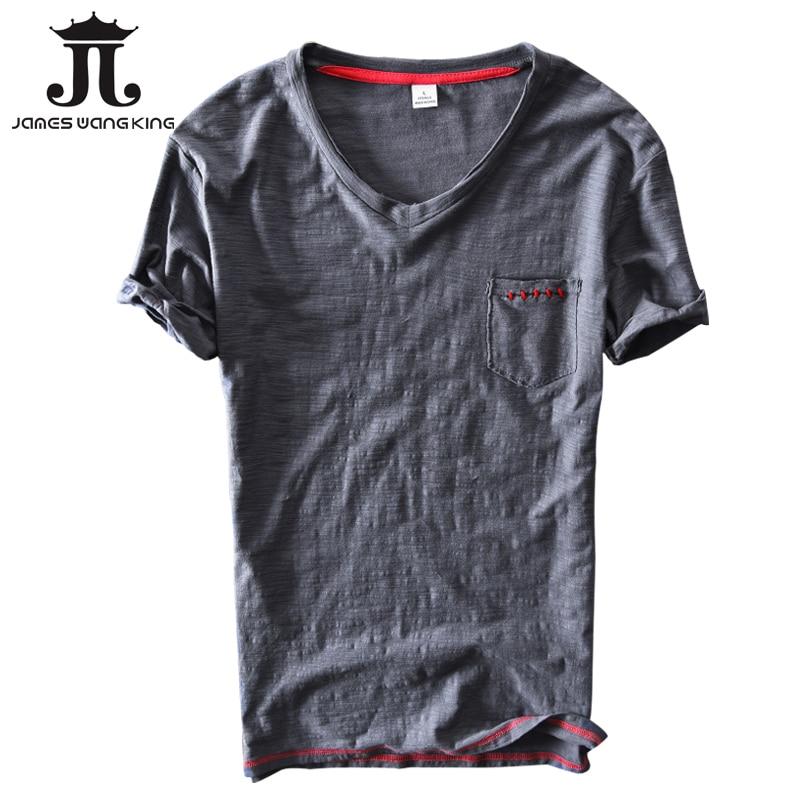 New  Linen T Shirt Men Summer Solid Short Sleeve V Neck Tops Tee Breathable Linen Cotton Soft T Shirt Size M Xxxl
