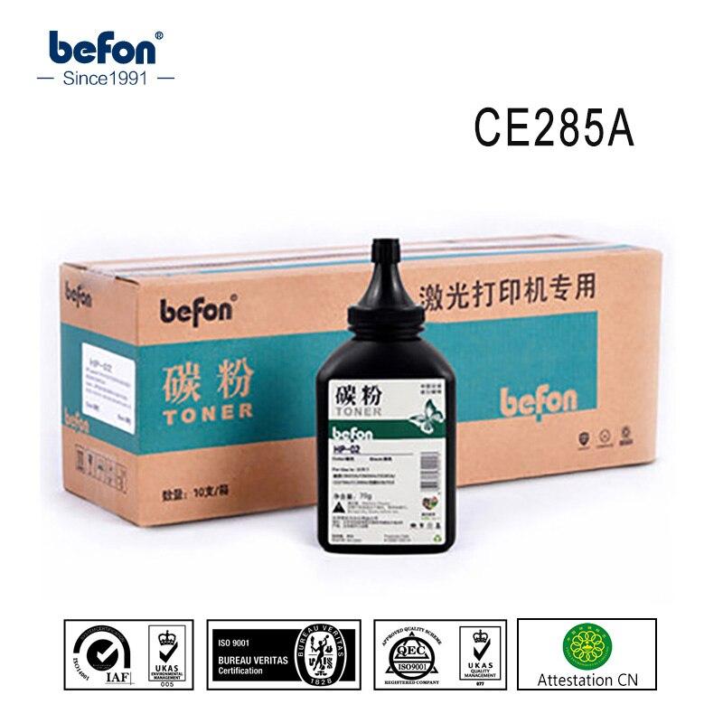 Befon 285A 285 85a Rempli noir Poudre De Toner Compatible pour HP CE285A CB435A CB436A CC388A CE278A Cartouche de Toner De L'imprimante