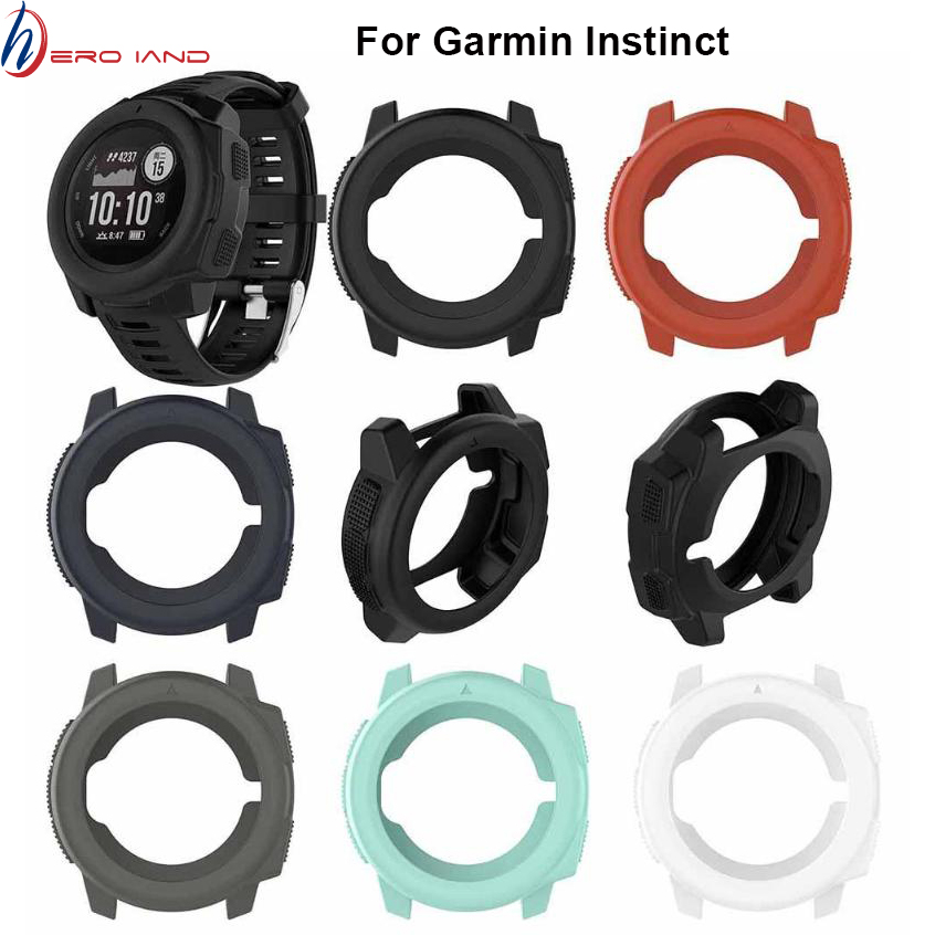 Hero Iand Light-weight Smart Protector Case Silicone Skin Protective Case Cover For Garmin Instinct Sports Watch Protective Case
