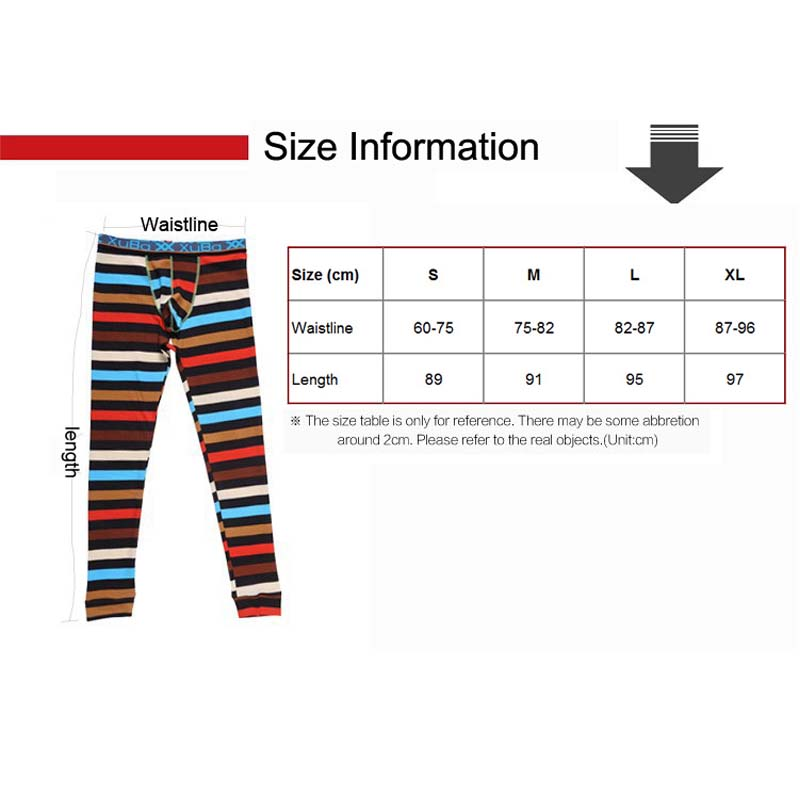 Fashion Zebra Thermal Tights Men Sexy Long Johns Brand XUBA John Underwear For Winter Man Pant In From Mens Clothing